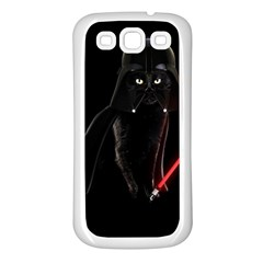 Darth Vader Cat Samsung Galaxy S3 Back Case (white) by Valentinaart