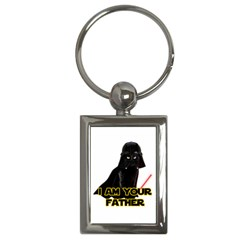 Darth Vader Cat Key Chains (rectangle)  by Valentinaart