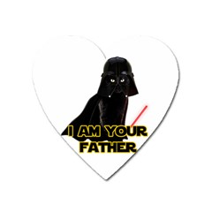 Darth Vader Cat Heart Magnet by Valentinaart