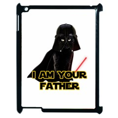 Darth Vader Cat Apple Ipad 2 Case (black) by Valentinaart