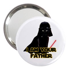 Darth Vader Cat 3  Handbag Mirrors