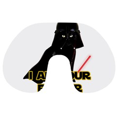 Darth Vader Cat Travel Neck Pillows by Valentinaart