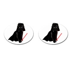 Darth Vader Cat Cufflinks (oval) by Valentinaart