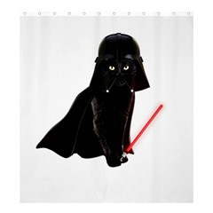 Darth Vader Cat Shower Curtain 66  X 72  (large)  by Valentinaart