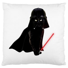 Darth Vader Cat Large Cushion Case (two Sides) by Valentinaart