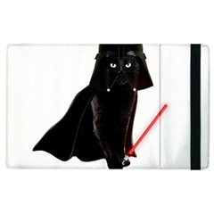 Darth Vader Cat Apple Ipad 2 Flip Case by Valentinaart