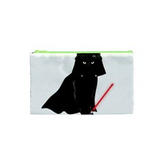 Darth Vader Cat Cosmetic Bag (xs) by Valentinaart