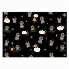Groundhog Day Pattern Large Glasses Cloth