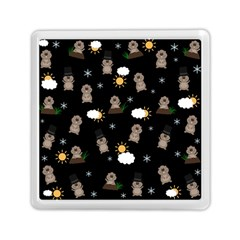 Groundhog Day Pattern Memory Card Reader (square)  by Valentinaart