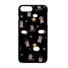 Groundhog Day Pattern Apple Iphone 8 Plus Seamless Case (black)