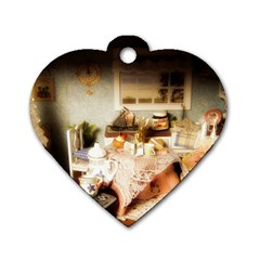 Dollhouse Christmas Dog Tag Heart (two Sides) by snowwhitegirl