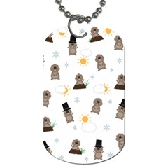 Groundhog Day Pattern Dog Tag (one Side) by Valentinaart