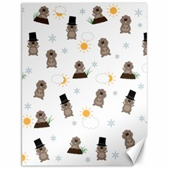 Groundhog Day Pattern Canvas 12  X 16   by Valentinaart