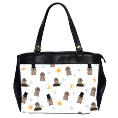 Groundhog Day Pattern Office Handbags (2 Sides)