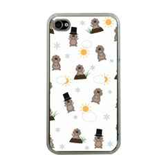 Groundhog Day Pattern Apple Iphone 4 Case (clear) by Valentinaart