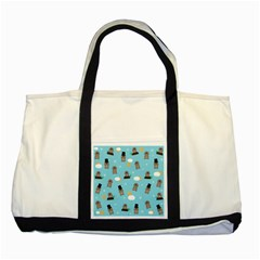 Groundhog Day Pattern Two Tone Tote Bag by Valentinaart
