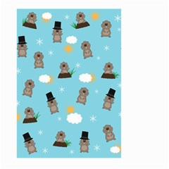 Groundhog Day Pattern Large Garden Flag (two Sides) by Valentinaart