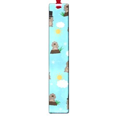 Groundhog Day Pattern Large Book Marks