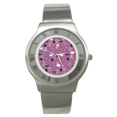 Groundhog Day Pattern Stainless Steel Watch by Valentinaart