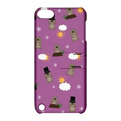 Groundhog Day Pattern Apple Ipod Touch 5 Hardshell Case With Stand by Valentinaart