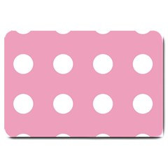 Pale Pink Dot Large Doormat  by snowwhitegirl