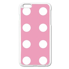 Pale Pink Dot Apple Iphone 6 Plus/6s Plus Enamel White Case by snowwhitegirl