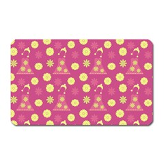 Yellow Flowers Dress Magnet (rectangular)