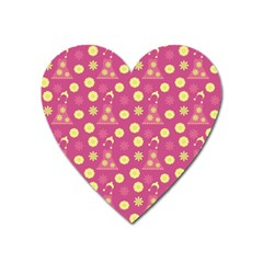 Yellow Flowers Dress Heart Magnet