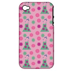 Green Dress Pink Apple Iphone 4/4s Hardshell Case (pc+silicone) by snowwhitegirl