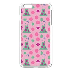 Green Dress Pink Apple Iphone 6 Plus/6s Plus Enamel White Case by snowwhitegirl