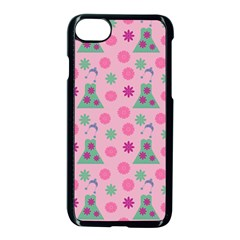 Green Dress Pink Apple Iphone 8 Seamless Case (black) by snowwhitegirl