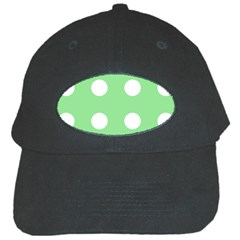 Lime Dot Black Cap
