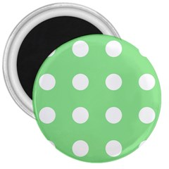 Lime Dot 3  Magnets