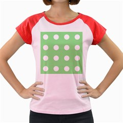 Lime Dot Women s Cap Sleeve T-shirt