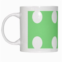 Lime Dot White Mugs by snowwhitegirl