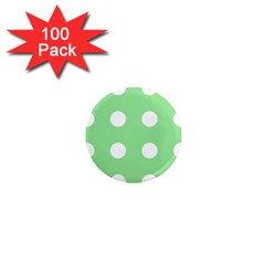 Lime Dot 1  Mini Magnets (100 Pack)