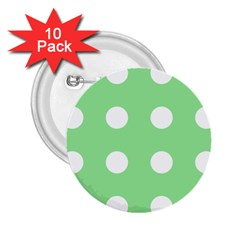 Lime Dot 2 25  Buttons (10 Pack)