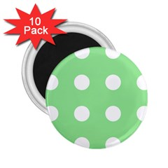 Lime Dot 2 25  Magnets (10 Pack)