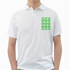 Lime Dot Golf Shirts