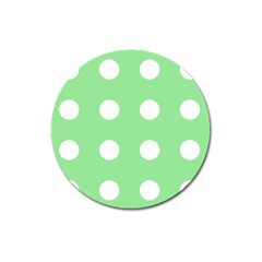 Lime Dot Magnet 3  (round)