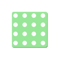 Lime Dot Square Magnet