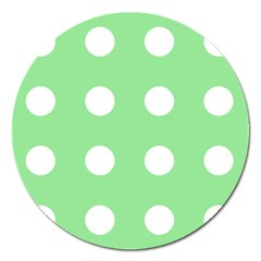 Lime Dot Magnet 5  (round)