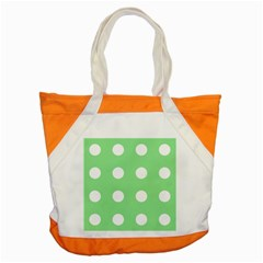 Lime Dot Accent Tote Bag