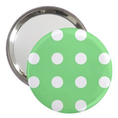 Lime Dot 3  Handbag Mirrors by snowwhitegirl