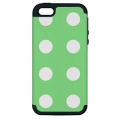 Lime Dot Apple Iphone 5 Hardshell Case (pc+silicone) by snowwhitegirl