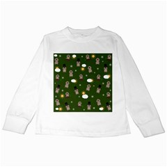 Groundhog Day Pattern Kids Long Sleeve T Shirts