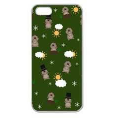 Groundhog Day Pattern Apple Seamless Iphone 5 Case (clear) by Valentinaart