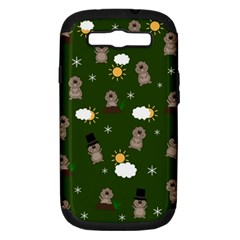 Groundhog Day Pattern Samsung Galaxy S Iii Hardshell Case (pc+silicone) by Valentinaart