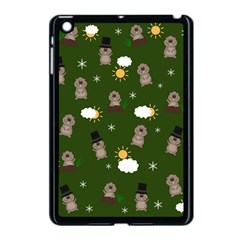 Groundhog Day Pattern Apple Ipad Mini Case (black) by Valentinaart