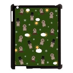 Groundhog Day Pattern Apple Ipad 3/4 Case (black) by Valentinaart